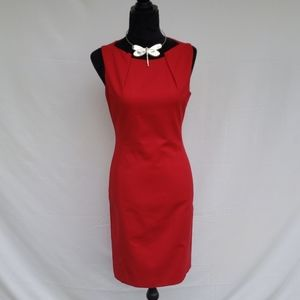 Tahari red dress.